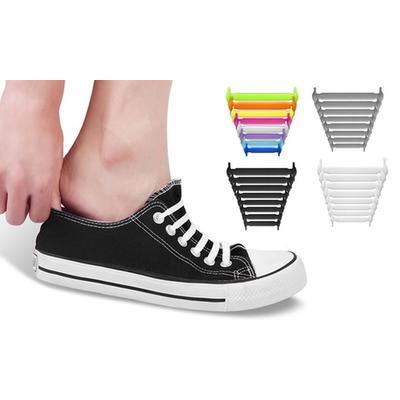 Silicone No-Tie Shoelaces: Two P...