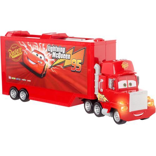Mattel Spielzeug-LKW Disney Pixar Cars Track Talkers Mack Truck, mit Licht und Sound rot Kinder Spielzeugautos Autos, Eisenbahn Modellbau