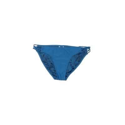 Volcom Swimsuit Bottoms: Blue Solid Swimwear - Size Large