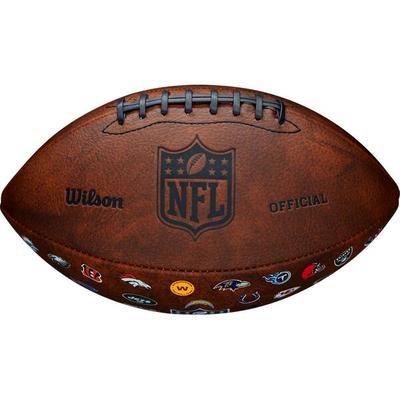 WILSON NFL OFF THROWBACK 32 TEAM LOGO, Größe 1 in Braun/Bunt