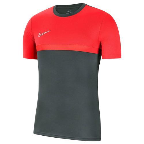 Nike Kinder Fußballshirt Kurzarm, grau/rot, Gr. 137-147