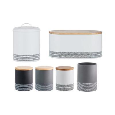 Typhoon Monochrome Storage Set: Storage Jars and Utensil Pot