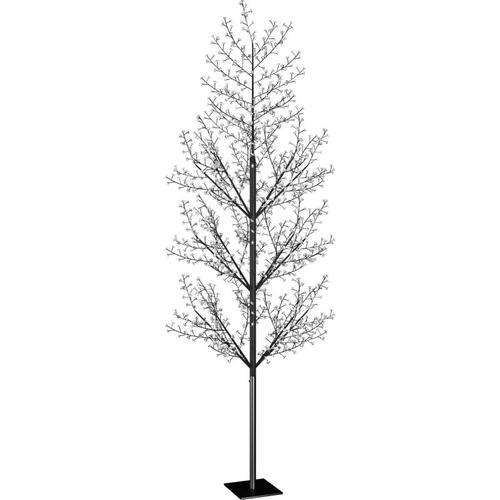 Vidaxl - Weihnachtsbaum 1200 LEDs Kaltweißes Licht Kirschblüten 400 cm