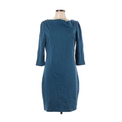 Elie Tahari for Nordstrom Casual Dress - Sheath: Teal Solid Dresses - Used - Size 12