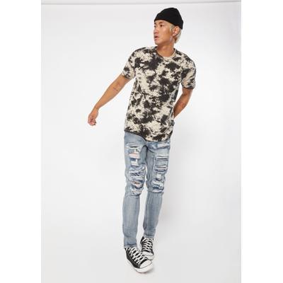 Rue21 Mens Medium Wash Ripped Skinny Jeans - Size 40X32