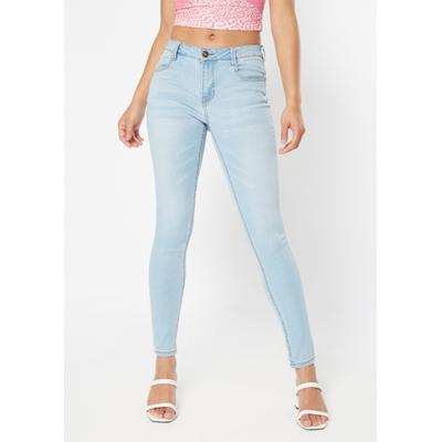 Rue21 Womens Light Wash Mid Rise Long Length Jeggings - Size 12