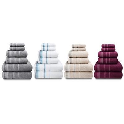 Rapport Home Six-Piece Berkley Towel Bale: Mulberry