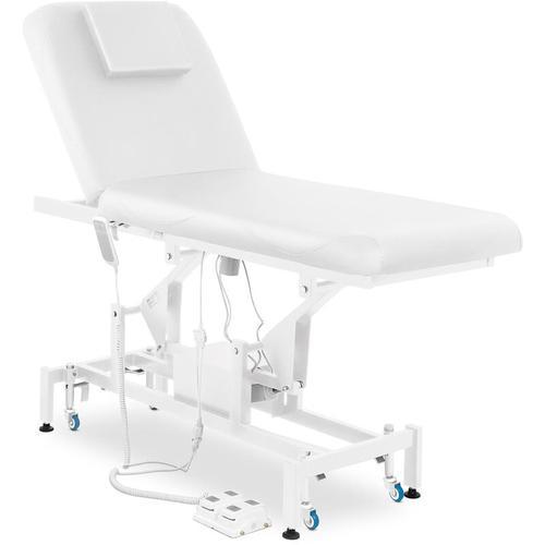 Massageliege Massagetisch Massagebank Therapieliege Elektrisch 2 Zonen Weiß