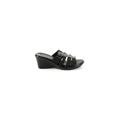 Italian Shoemakers Footwear - Italian Shoemakers Footwear Wedges: Black Solid Shoes - Size 8 1/2