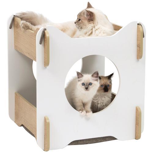 Vesper Tierbett CA Cabana, Katzenhöhle, BxLxH: 50x50x53 cm weiß Katzenkörbe -kissen Katze Tierbedarf