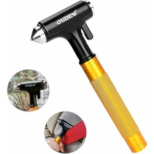 Autohammer, Nothammer, Sicherheitsgurtschneider Fenster Nothammer Fluchtwerkzeug Metall für