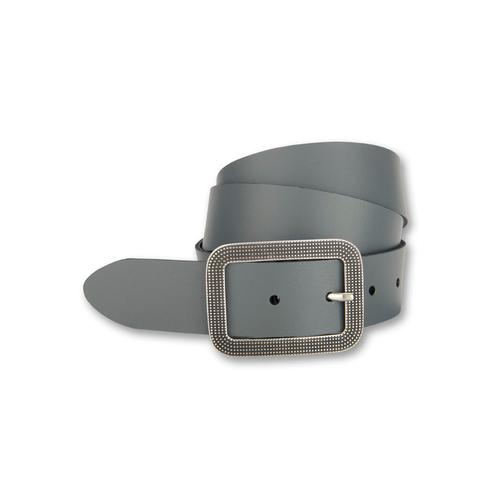 BERND GÖTZ Ledergürtel, mit dekorativer ziselierter Schließe grau Damen Ledergürtel Gürtel Accessoires