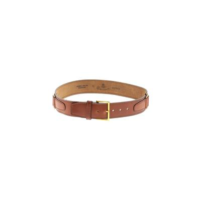 Canterbury of New Zealand - Canterbury of New Zealand Leather Belt: Brown Solid Accessories - Size 30
