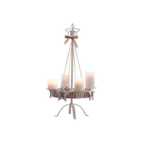 Pureday Kerzenständer White Christmas - Weiß