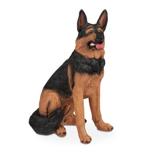 Relaxdays Lebensgroße Schäferhund Figur
