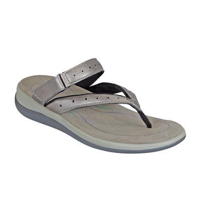 Women's Arch Support Orthotic Sandals | Orthofeet Gaya Pewter, 8 / Medium / Gray