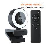 Webcam QHD 2K 1440P, avec micro,...