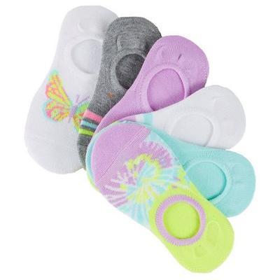 Marilyn Monroe Girls 6-pk. Tie Dye Butterfly Sock Liners