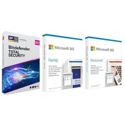 Office 365 Famille pour 6 utilisateurs avec Bitdefender Total Security pour 3 appareils