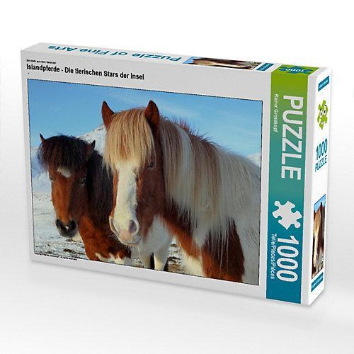 Islandpferde - Die tierischen Stars der Insel Foto-Puzzle Bild von gro Puzzle