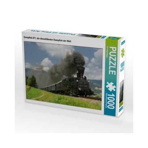 Dampflok 671, die dienstältesten Dampflok der Welt Foto-Puzzle Bild von HP Puzzle