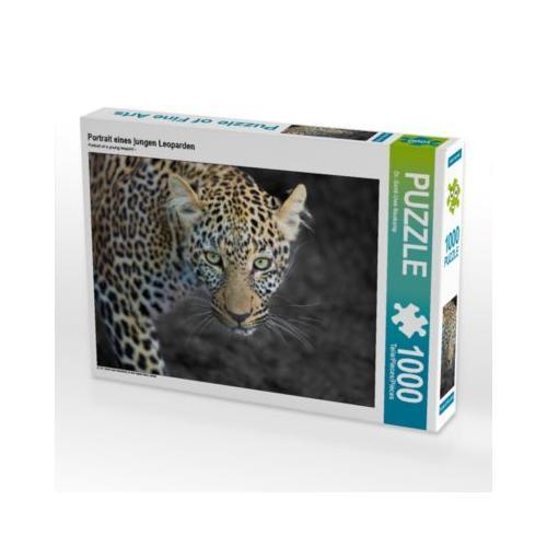 Portrait eines jungen Leoparden Foto-Puzzle Bild von Gerd-Uwe Neukamp Puzzle