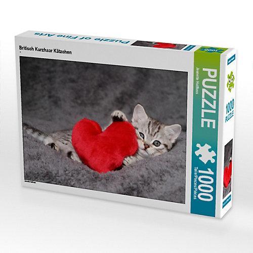 Britisch Kurzhaar Kätzchen Foto-Puzzle Bild von Jeanette Hutfluss Puzzle