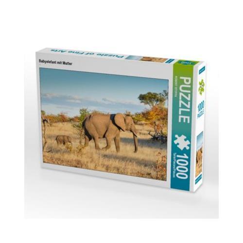 Babyelefant mit Mutter Foto-Puzzle Bild von ROBERT STYPPA Puzzle