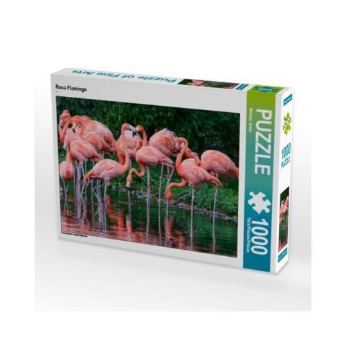 Rosa Flamingo Foto-Puzzle Bild von Michael Jaster Puzzle
