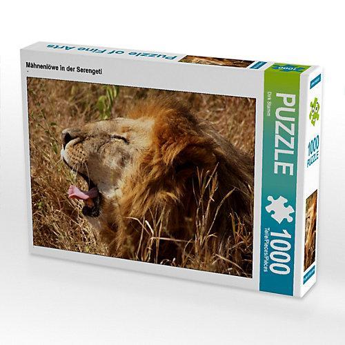 Mähnenlöwe in der Serengeti Foto-Puzzle Bild von Dirk Stamm Puzzle