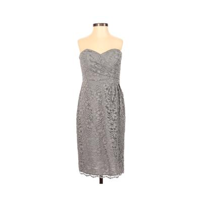 David's Bridal Cocktail Dress - Party: Gray Solid Dresses - Used - Size 2