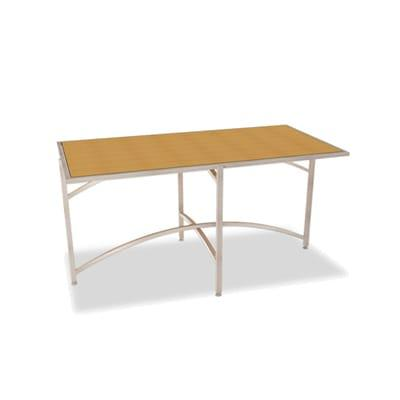"""Forbes Industries 7043L-24 Rectangular Collapsible Table w/ Laminate Top & Brushed Steel Frame, 24""""H"""