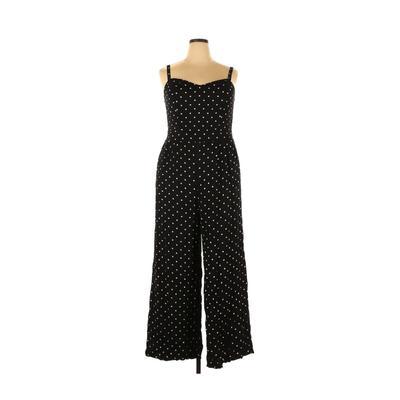 Torrid Jumpsuit: Black Polka Dots Jumpsuits - Size 2X Plus
