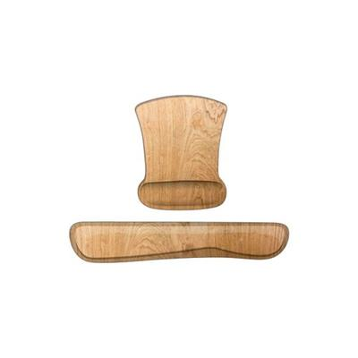 Heritage Woodgrain Maple 2 Piece Memory Foam Keyboard and Mouse Wrist Support Set
