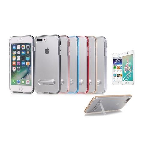 Schutzhülle mit Ständer für iPhone: 7 Plus 8 Plus / Rot