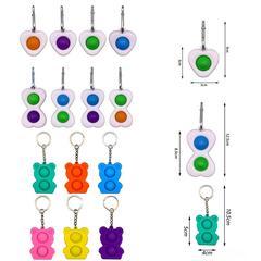 Popite – Mini porte-clés anti-stress pour enfants, jouet à pression sensorielle, bulle