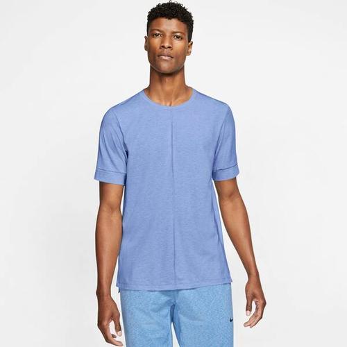 NIKE Herren Yoga T-Shirt Nike Yoga Dri-Fit, Größe M in Weiß