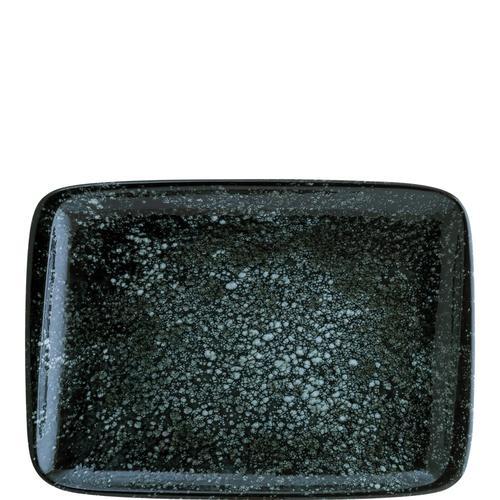 6x Servierplatte Set Geschirr Servierteller Teller Platte rechteckig 36 x 25 cm Cosmos Black Moove