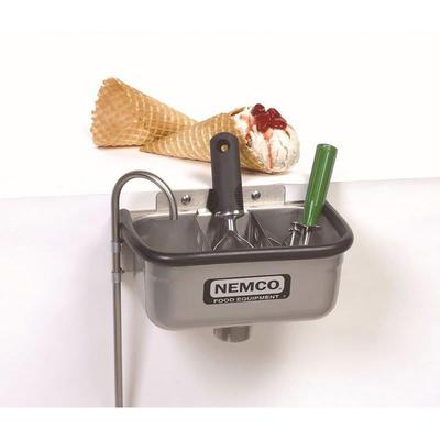 """Nemco 77316-10A 10"""" Spade Cleaning Well w/ 3/8"""" Round Spigot & Rubber Bumper, Stainless"""