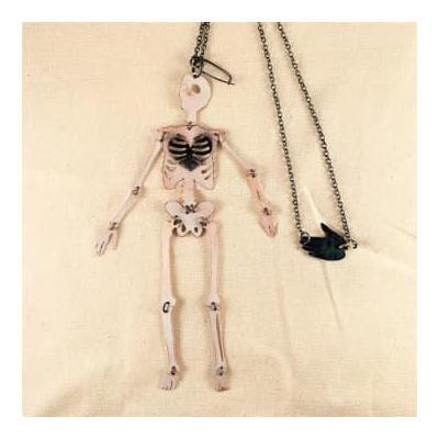 Anna Watson Jewellery - Skeleton Statement Necklace Brooch