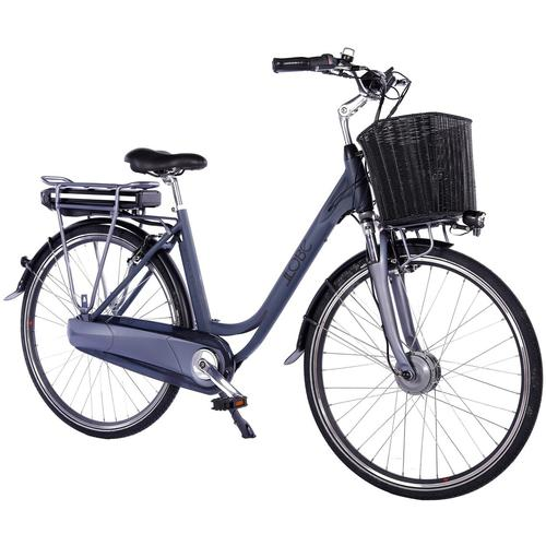 LLobe E-Bike Black Motion 2.0, 10,4Ah, 7 Gang, Shimano, Frontmotor 250 W, (mit Fahrradkorb) schwarz E-Bikes Fahrräder Zubehör