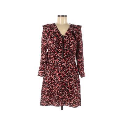 Karen Millen Casual Dress - Mini: Red Animal Print Dresses - Used - Size 8