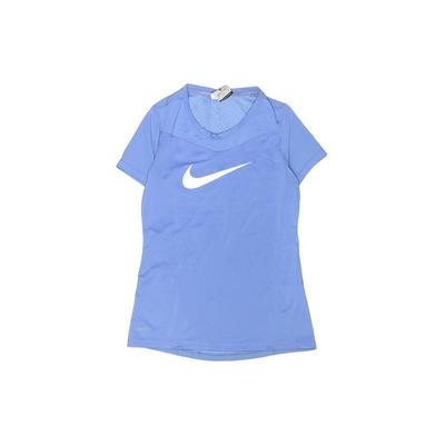 Nike Active T-Shirt: Blue Solid ...