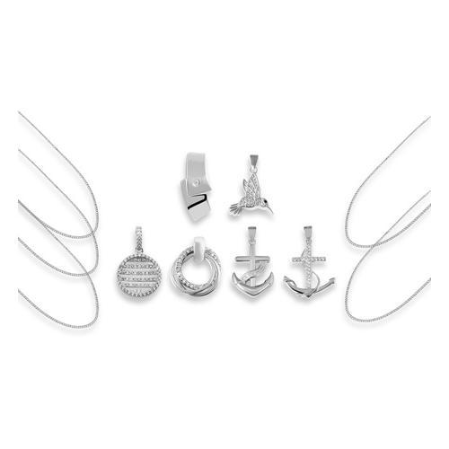 Anhänger opt. mit Halskette: 2x Halskette / 50 cm + 60 cm