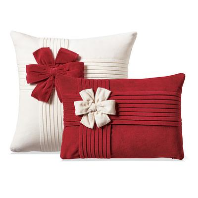 Holiday Bow Velvet Decorative Pi...