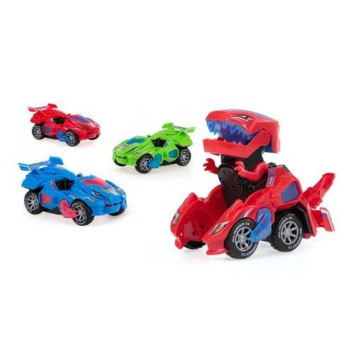 Dinosaurier-Auto: Rot + Blau/2