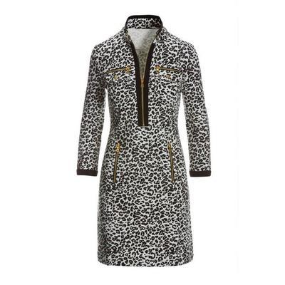 Boston Proper - Animal Chic Zip Dress - Multi - X Large