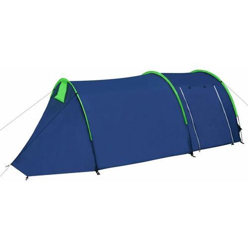 Familienzelt Kuppelzelt Campingzelt 4 Personen Blau/Grün