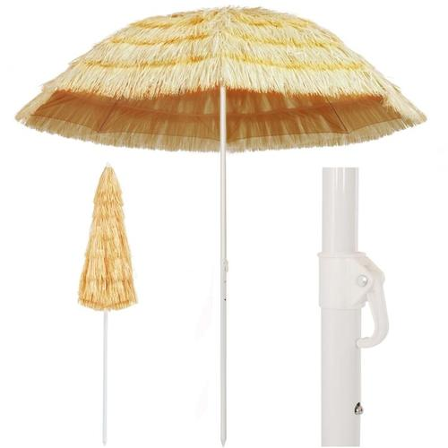 Betterlife - Strandschirm Natur 240 cm Hawaii Style