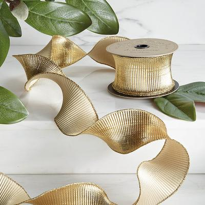 Fluted Lame Ribbon - Frontgate